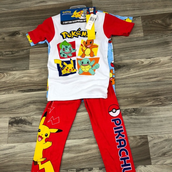 5ab81d5c77 NEW Kids  Pajamas Set Pokémon
